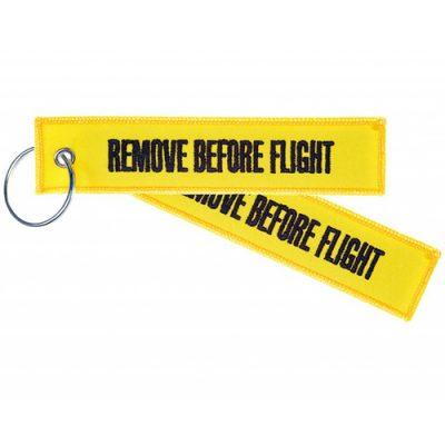 """Remove Before Flight"" Schlüsselanhänger | yellow"